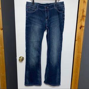 Wrangler Juniors Bootcut Jeans 13/14 x 34